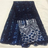 VILLIEA Glittery African Lace Fabric French Sequins Net Lace High Quality Wedding African Sequin Lace Fabric With Beads