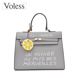 VOLESS Brand Women Messenger Bags Soft PU Leather Handbags Fashion Letter Tote Bags Sequined Female Handbags 2018 New Arrivel