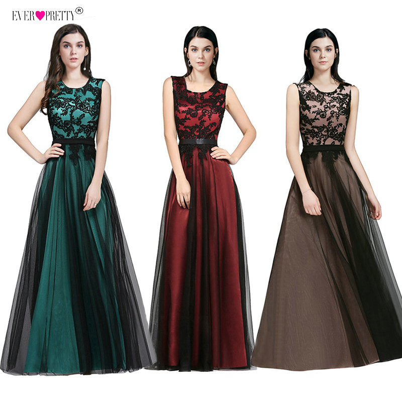 2a5300b248 Vestido de Festa Longo Real Photo Lace Appliques Long Evening Dresses 2018  Cheap Evening Party Dresses. Hover to zoom