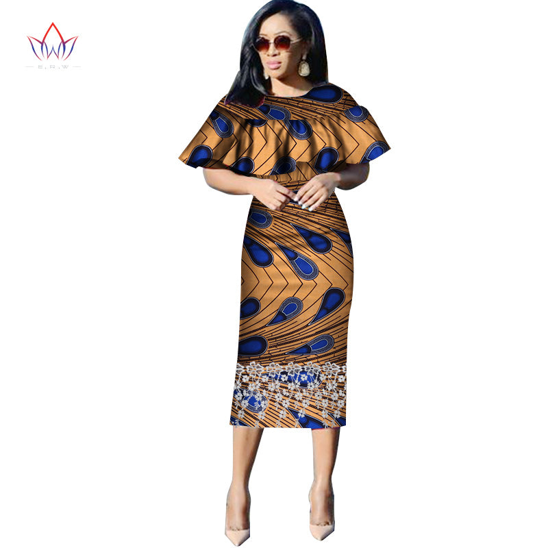 bc2ceeb9d71 Hover to zoom · Vestidos African Women Dresses 2018 New Fashion Butterfly  collar African Clothing Dashiki Plus Size Sexy Party