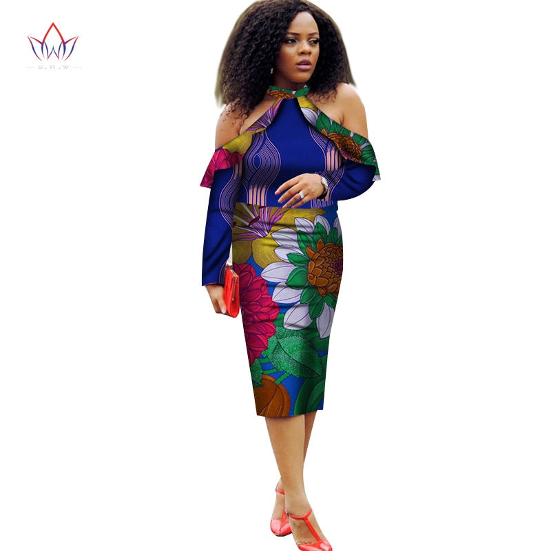 ... Vestidos African Women Dresses 2018 New Fashion Off the Shoulder  African Clothing Dashiki Plus Size Sexy ... 90a305a66392