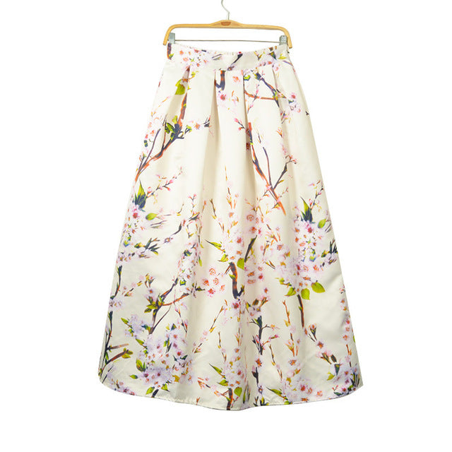 897b8f773d9e Vintage Muslim Women 100cm Long Maxi Skirt 2016 Fashion Pleated Floral  Printed High Waist Women Flared. Hover to zoom