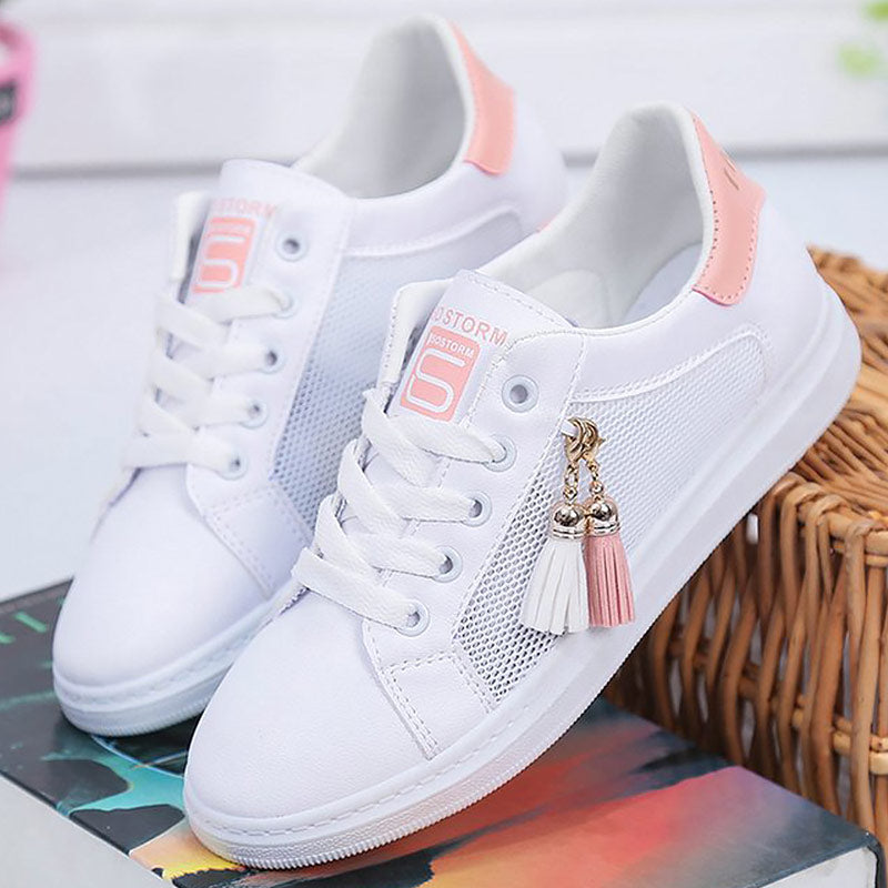 5fa54adf783 Vulcanize shoes women fashion sneakers summer fringes air mesh ...
