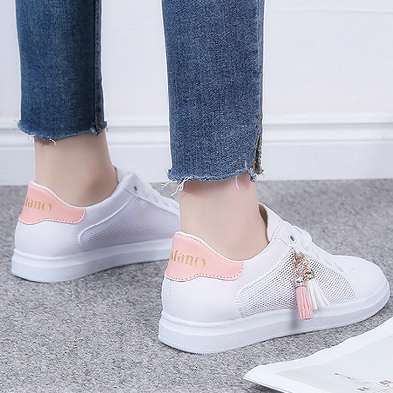 543190950e9 Vulcanize shoes women fashion sneakers summer fringes air mesh ladies shoes  size 35-39 sweet sneakers for girls