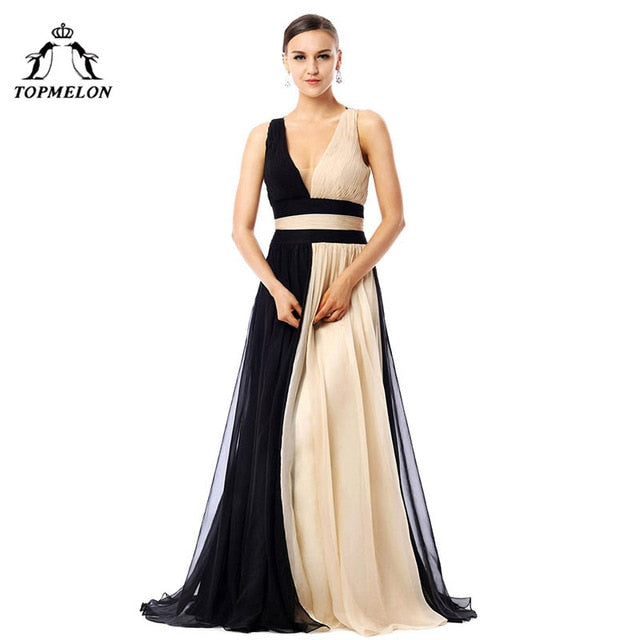 d232ba04ccb2e Wechery Women Dress 2018 New Chiffon Maxi Long Bandages Dresses Women Sexy  Backless Black & Apricot. Hover to zoom