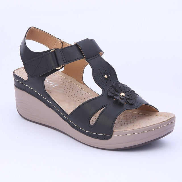 a4da410c5f1 ... Wedges Shoes Women Sandals Platform Casual Soft Sole Narrow Band  Lightweight Comfortable Gladiator Summer Shoes Plus ...