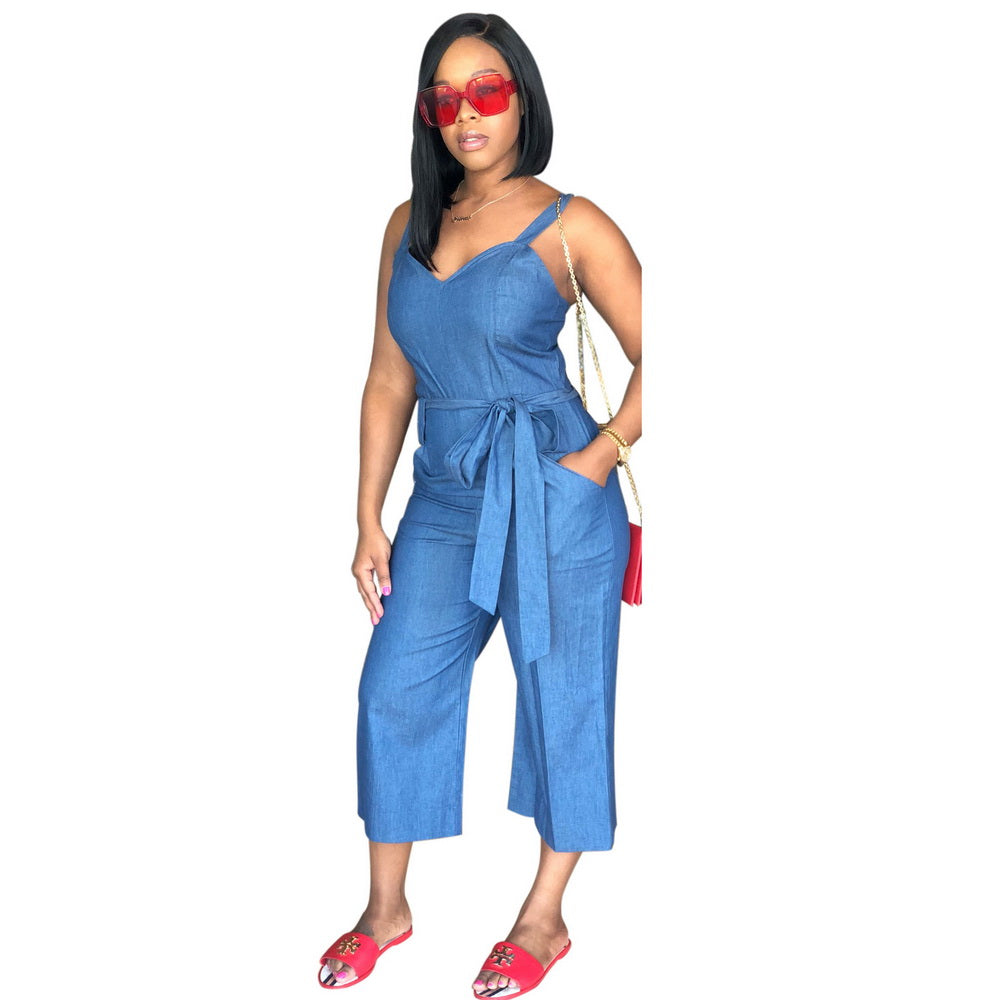 43d0f685ecd9 Hover to zoom · Wendywu Women Jeans Jumpsuits European Style Playsuit Women  Denim Jumpsuit Overalls Sexy Rompers Girls Jeans Bodysuit