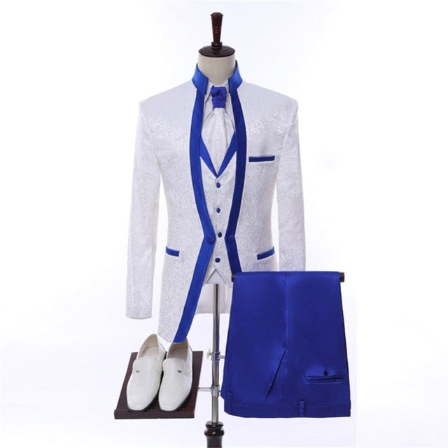 a0a9c346fbb8 ... Suit Set Mens Wedding Suits Costume Groom Tuxedo. Click to expand