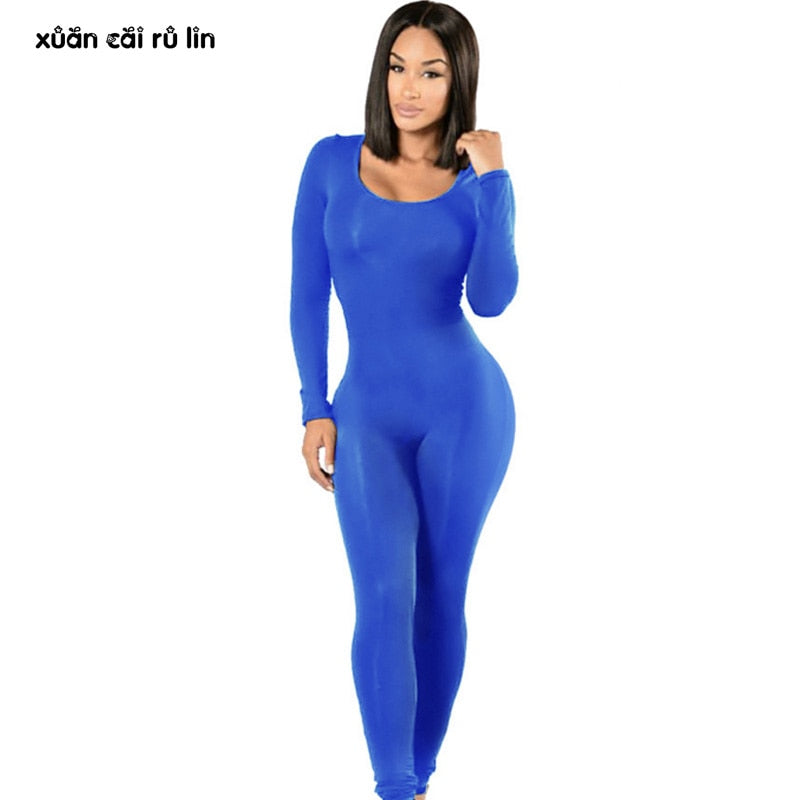 new arrive get online 2019 clearance sale Woman Tight Bodysuit body femme sexy Overalls Night Club Rompers Party  Playsuit Bodycon Macacao long Sleeve red Black Jumpsuit