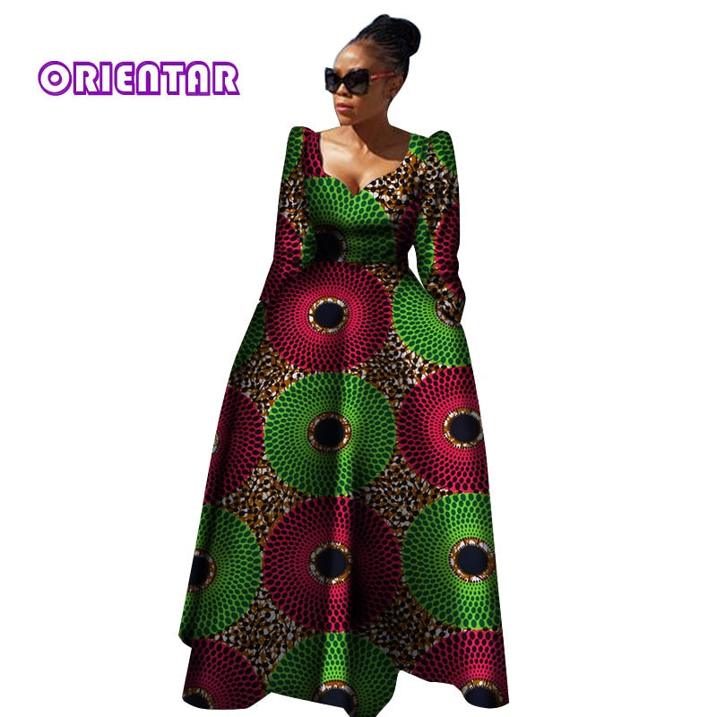Party dresses 2018 New style African Dresses for Women Bazin Riche Plu –  Owame fa0c232a67f5