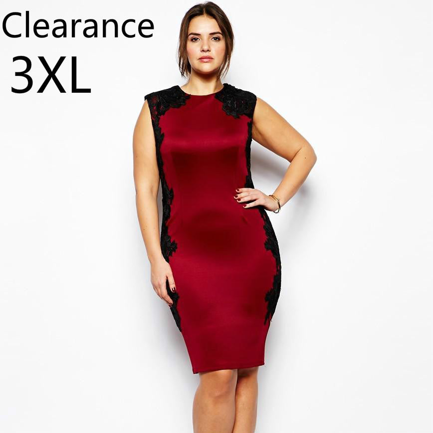 4b4cd604307 Hover to zoom · Women Bodycon Dress L~6XL Plus Size Lace Patchwork Dresses  Vintage Ladies Vestidos Large Clothing