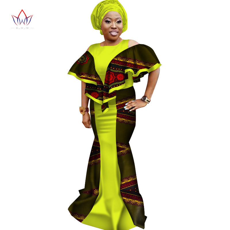 9cb9899f903 ... Bazin Riche African Print Dresses for Women Plus Size African. Hover to  zoom