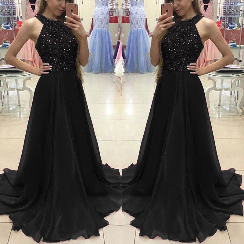 Women Ladies Formal Dress Long Evening Party Ball Prom Gown Women