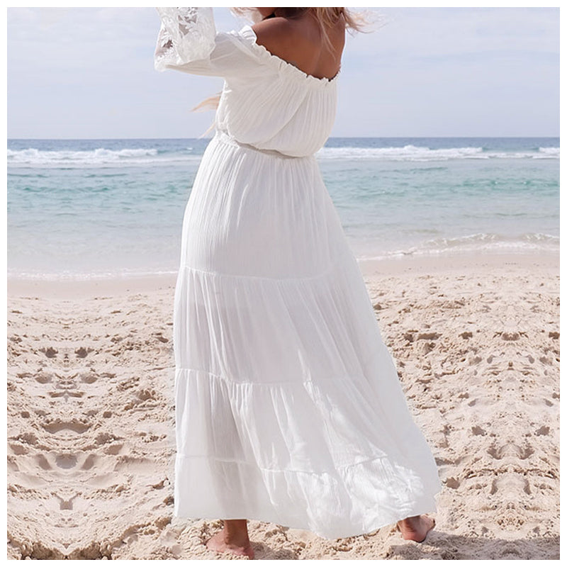 White Dress for Beach Party