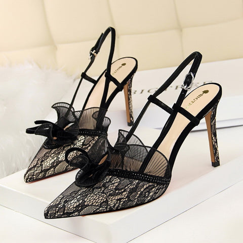 Women Summer Shoes T-stage Fashion Dancing High Heel Sandals Sexy Stiletto Party Wedding Shoes White Black
