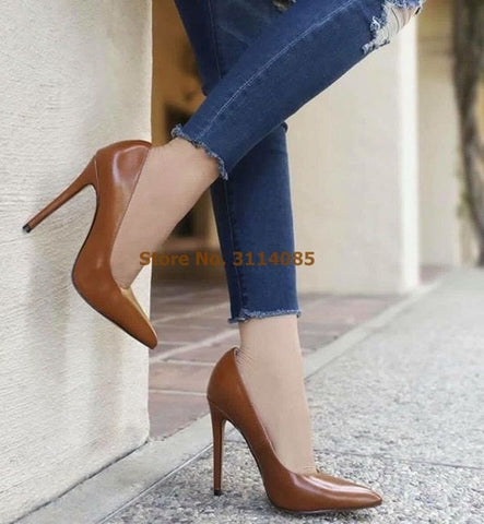 Women Top Selling Pink Patent Leather Stiletto Heels Dress Pumps Shallow Cut Slip-on Wedding Shoes High Heel Nightclub Pumps