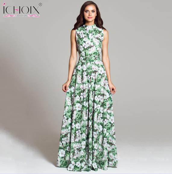 4f7aa149fbe Women Vintage Evening Party long Dress Summer Plus Size Floral Print Maxi  Dresses New Fashion Boho. Hover to zoom