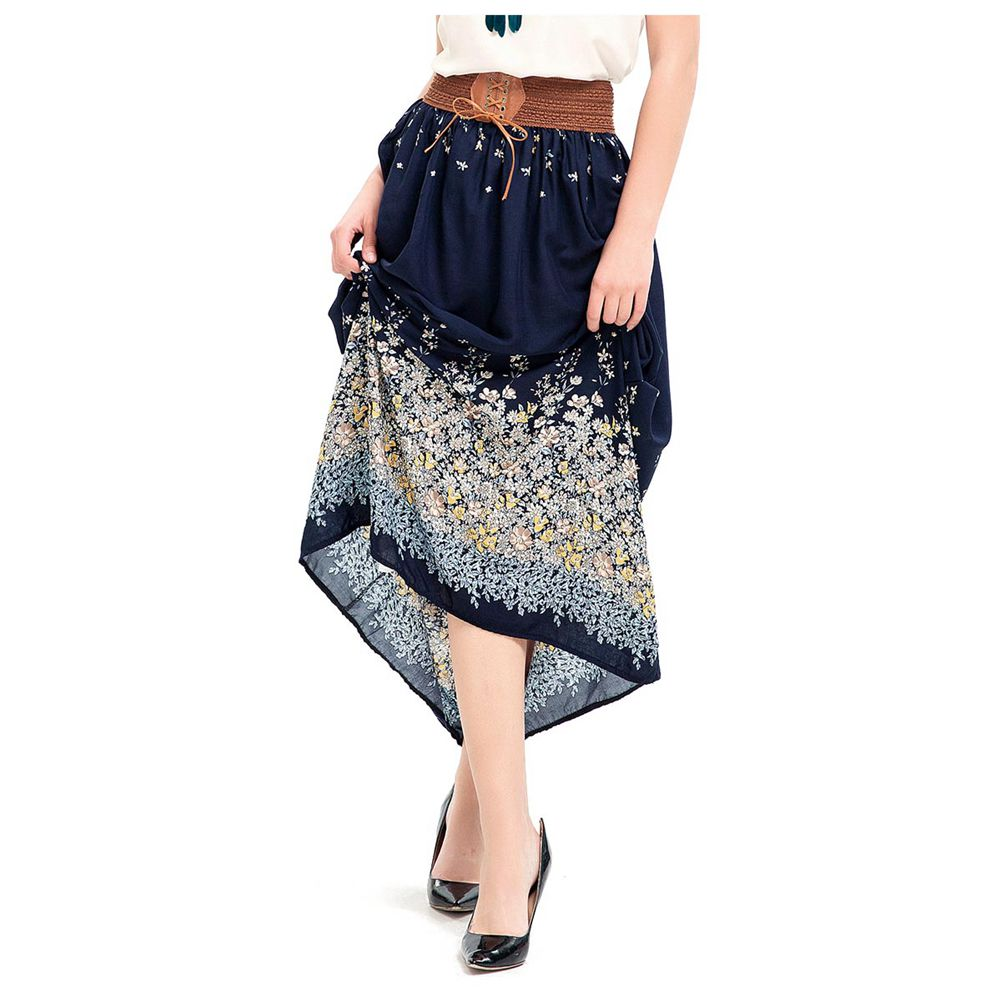 6142bed77 Hover to zoom. PrevNext. Image of Women's New Summer Elegant Long Skirt  Beach Bohemian Maxi Skirts High Waist Casual ...