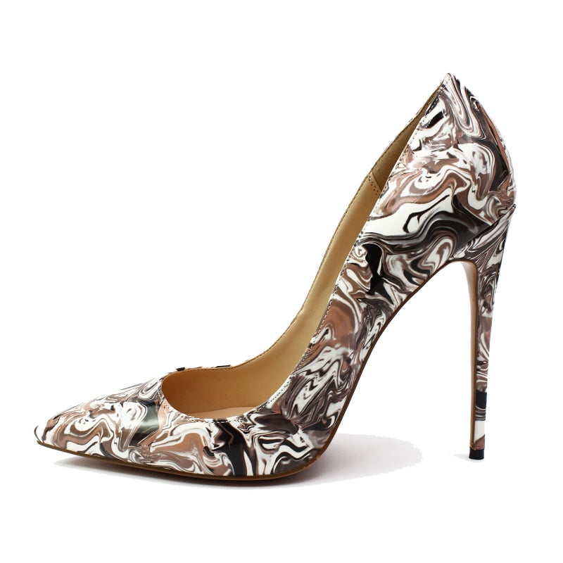 ... Women s Stiletto Heel Pumps Women Floral Print Thin High Heels Shoes  Woman Summer Pointed Toe Shoes ... 03ca55f4a139