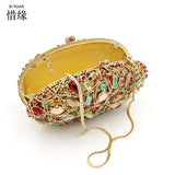 XIYUAN BRAND Hot Luxury Oval women Evening Bags Candy Color Classic girls Day Clutch Small Wallet Purse Party Banquet Women Bag