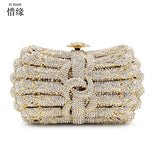 XIYUAN BRAND Women Hand Pearl Bag Elegant Lady Clutch Evening Bag Diamond Wedding Bridal Handbag Purse Shoulder Messenger Bags