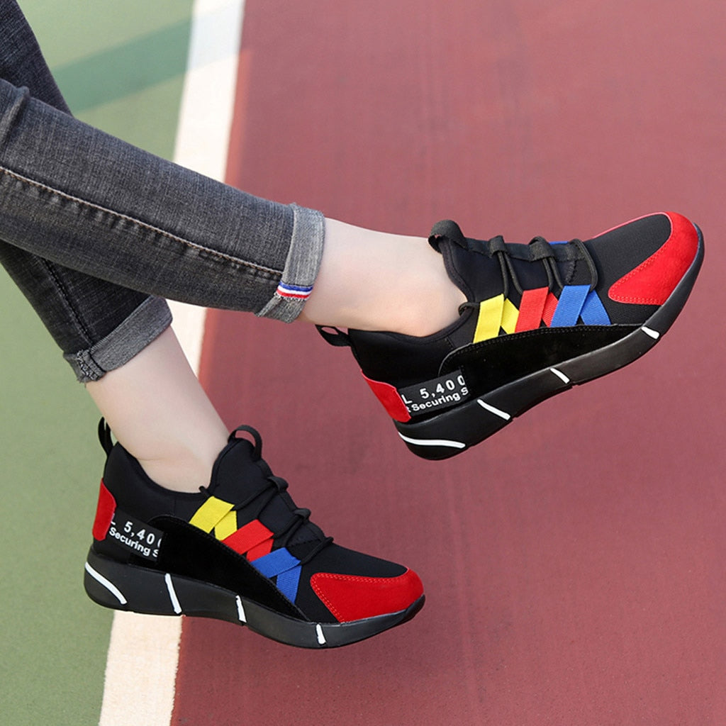 d4835f9c2a YOUYEDIAN Women Sneakers 2019 Spring Fashion Casual Breathable Vulcanized  Shoes Platform Tenis Feminino Zapatillas Mujer