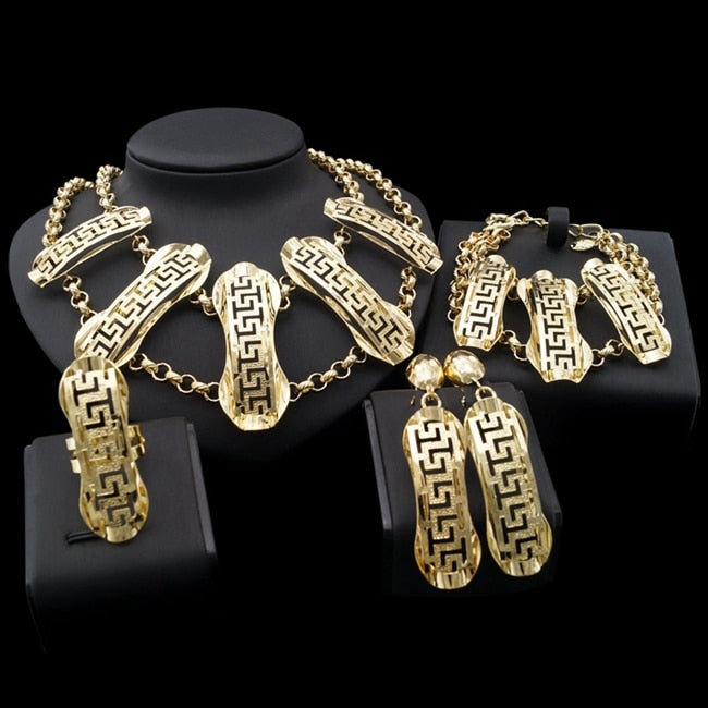 d59bd99328 Yulaili With Carving Style Four Jewelry Sets In Party Show Who Will ...