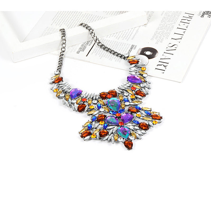Zhini bohemian luxury shiny pendants necklace jewelry fashion women zhini bohemian luxury shiny pendants necklace jewelry fashion women wedding jewelry statement collar choker necklaces jewellry mozeypictures Images