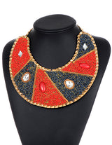ZHINI New Arrival Luxury Brand Boho Multicolored Leather Chain Collar Chokers Necklace For Women Sexy Wedding Handmade Wholesale