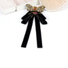 Image of ZHINI New Arrival Vintage Ribbon Big Bow Brooches Pins With Bee For Women Butterfly Bow Brooch Tie Clothing Accessory Wholesale