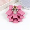 Image of ZHINI Vintage Newest Woman Brooches Pink  Ribbon Big Bow-knot Brooch Pin Rhinestones Collar Shirt's Accessories Fashion Jewelry