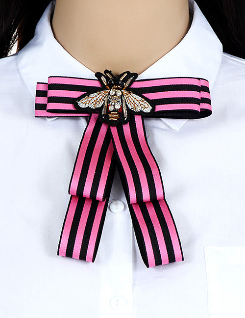 aecb3b9c6033f ZHINI Women Bow Brooches Pin Bee Shape Trendy Broches Jewelry Bowknot  Brooch Vintage Collar Corsage Shirt Dress Jewelry Necktie