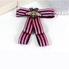 Image of ZHINI Women Bow Brooches Pin Bee Shape Trendy Broches Jewelry Bowknot Brooch Vintage Collar Corsage Shirt Dress Jewelry Necktie