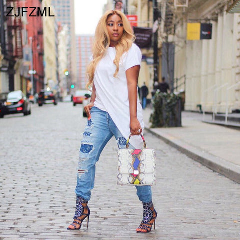 ZJFZML Front Split Sexy Plus Size Dress 2018 Women Short Sleeve O Neck Irregular Robe Casual Party Club T Shirt Dresses Tunic