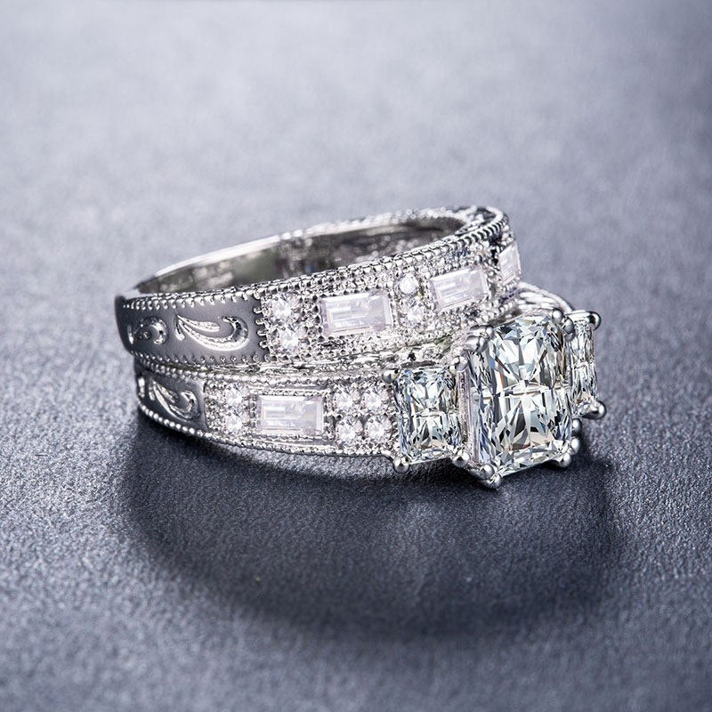 5b2297d2436 ZORCVENS New Brand Womens Jewelry Vintage Ring Wedding Engagement ...