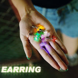 LED Flashing Colorful Light Bulb Earrings for Partying