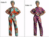 Image of African dashiki shirt + pants trousers, shirt African print women dashiki set short short top and pant,African Dress,African Clothing - Owame