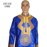 african bazin riche embroidery man shirt long sleeve LZ41#