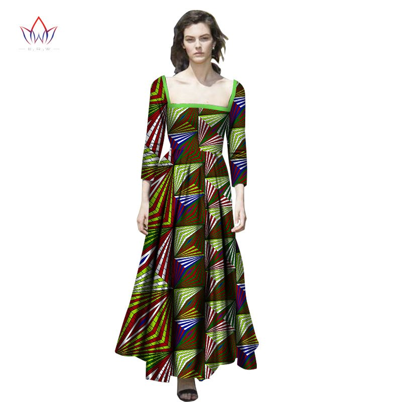 african dashiki dresses cotton African Dresses for Women Plus Size African  Clothing long dress Traditional Bazin Riche WY2647