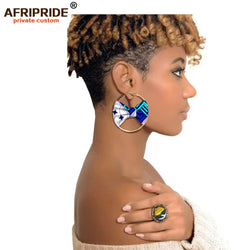 african fashion style earring for women AFRIPRIDE handmade ankara print women ear wear A1928002