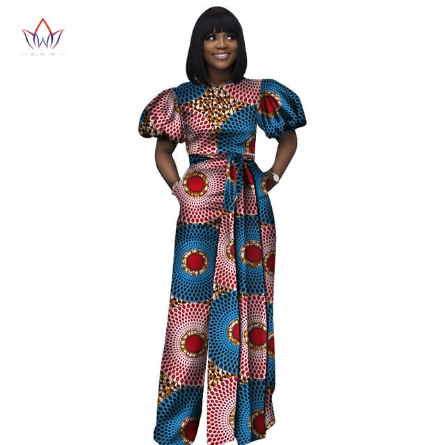1e1acf8bd2d ... african women jumpersuit with print sexy overalls women jumpsuit  elegant o-neck dashiki pants plus ...