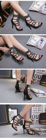 Ethnic Gladiator Women Sandals High Heels