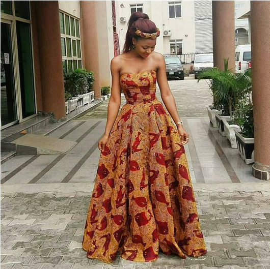Custom Made African print dress, Ankara Gown Dress/African clothing/African wax print dress/African dress/African/African wedding dress/Ankara dresses