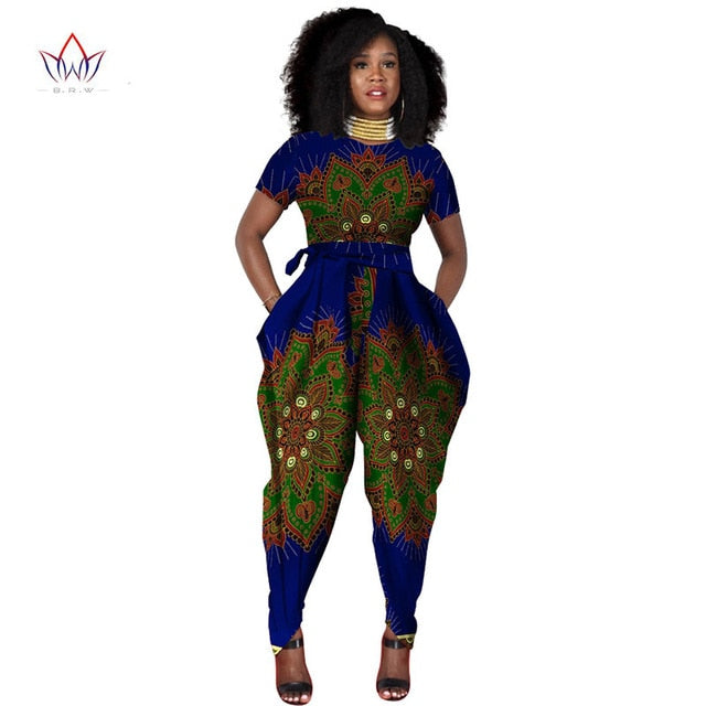 1ae73166dc ... beautiful and cheap african women jumpersuit with print women african  clothing dashiki pants trajes africanos plus ...