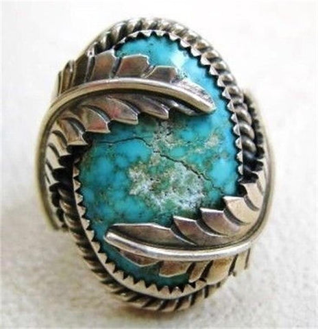 charming tibet silvers Retro Vintage 925 Silver blue Chalcedony TURQUOISEs Rings Finger Female luck Jewelry shipping free