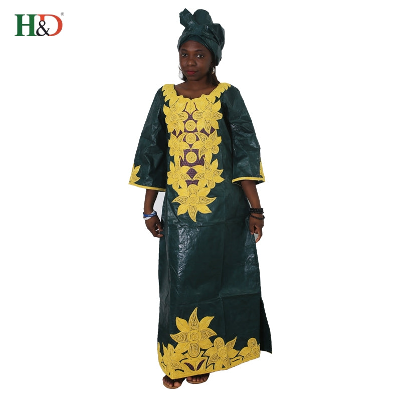 a4fd1b405d385 dashiki Bazin riche dress headwraps African dresses for women clothing  embroidery 2018 top quality embroidery africaine robe
