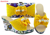 beautiful Italian Matching Shoe And Bag Set African Style Ladies Peach Shoe And Bag To Match For Wedding heel 10.5G3-18
