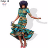 Image of African bazin riche printed Dress For Women,Dashiki Dress,African Dress,African Clothing - Owame