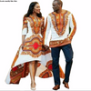 Image of African Couples dashiki Ankara Men top or Women dress,Dashiki Dress,African Men Dress - Owame