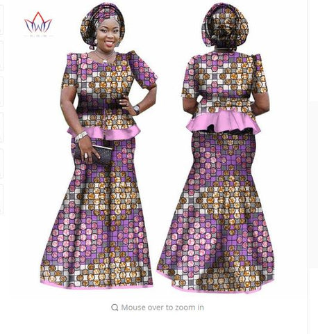African Women Skirt and Blouse, headwrap Set, Custo